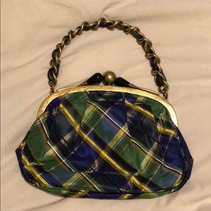 JCrew silk chain handle mini bag